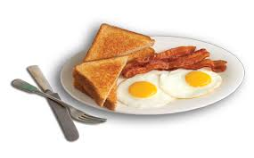 2 eggs 3 bacon 2 toast
